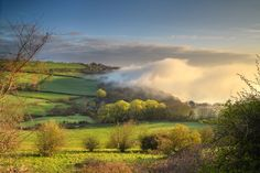 Sea Fog over Luccombe Village - Sandown, Shanklin, Luccombe and Wroxall