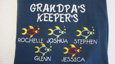 Grandpa Pop Peepere Dad Daddy Fishing  by MonogramEmporium on Etsy, $45.00