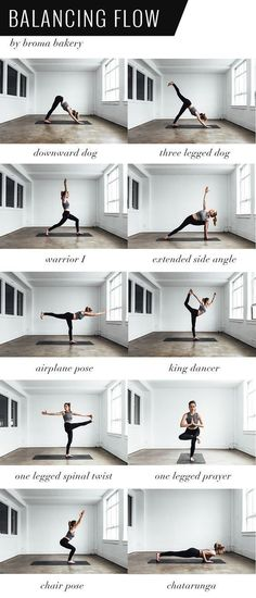 Yoga Poses & Workout : Balancing Flow Yoga Sequence