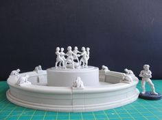 One more picture of upcoming fountain from Stalingrad, different angle this time, with our 28mm heroic scale miniature next to it for measuring scale. It will be available next Tuesday. Do You like it?