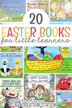 With Easter coming up, what more fun than teaching our little learners all about this special time of year? Teaching them about Easter is such fun with these 20 Easter Books for Little Learners! - Mrs. Jones' Creation Station #Easter #Reading #Books