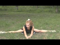 Cheerleader Stretching Flexibility Routine before Stunts, Cheer with Jen...