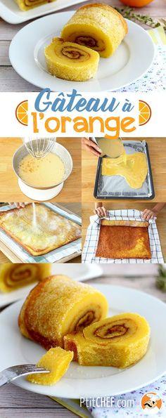 Gâteau roulé a l'orange portugais