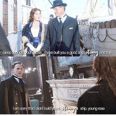 Credit Mr andrews was one of my favourite character and he was so sweet to rose and was so nice to jack even though he was… Victor Garber, Thomas Andrews, Titanic, Classic Hollywood, Confessions, Film, Rose, Sweet, Fictional Characters