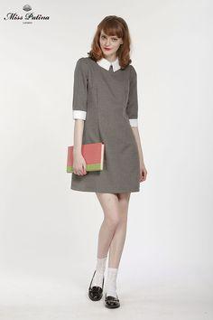 Miss Patina grey Lincoln dress