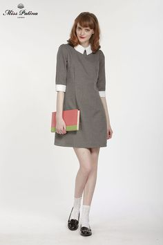 Miss Patina grey Lincoln dress