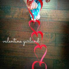 How to make a valentine garland. #DIY #Valentine