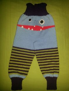 Monster pants made of Baby Merino. My first try on 5 double pointed needles.