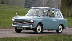 Austin A40.  First car I ever drove, albeit inadvertently.