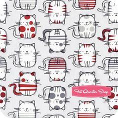 Timeless Treasures Grey Sketched Cute Cats Yardage <br/>SKU# C3645-GREY