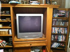 Solid Oak custom amish-made entertainment center in janetflin's Garage Sale in elkhart , IN for $100.00. This is a solid oak entertainment center.  Many people are re-purposing these in the kitchen or in bedrooms for storage and/or display these days.  Unfortunately, it's too big for my kitchen and bedrooms.This was custom-designed by my uncle and crafted by an amishman in Goshen, IN.  It is SOLID OAK.  The left side has shelves that are adjustable.  The right sid ...