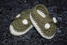 Funky crochet baby booties