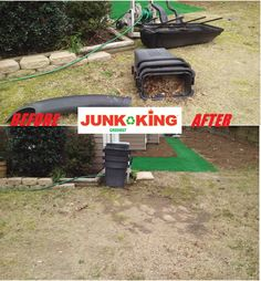 It was a Wonderful Wednesday here at Junk King! Doing your last bit of lawn maintenance and there is more leaves then you thought? Do you want them gone but don't want to go through the hassle of burning them? Not to worry we will come get it in a hurry. We will dispose of your yard waste so you can get back to getting your lawn back to its beautiful green luster. Need more? Check out these out of sight before and after! #junk #junkremoval #yardwaste #greatservice #beforeandafter