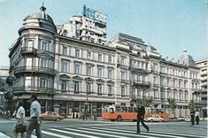 Bucureşti Hotel Bulevard 1985 Bucharest Romania, Time Travel, Cities, Past, Multi Story Building, Traveling, Street View, Vintage, Viajes