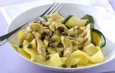 Κοτόπουλο pestο με μανιτάρια και παπαρδέλες | Γόβα Στιλέτο