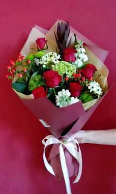 Beautiful Rose From My Heart Beautiful Bouquet Of Flowers, Beautiful Flower Arrangements, Wedding Flower Arrangements, Beautiful Roses, Floral Arrangements, Beautiful Flowers, How To Wrap Flowers, Bunch Of Flowers, Fresh Flowers
