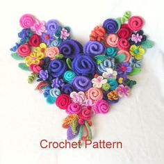 Wie man häkeln Blumen Muster Tutorial von GraceKnittingPattern