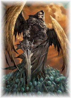 angel of death tattoo Grim Reaper Art, Grim Reaper Tattoo, Don't Fear The Reaper, Dark Fantasy Art, Fantasy Kunst, Fantasy Artwork, Dark Art, La Muerte Tattoo, Angels And Demons