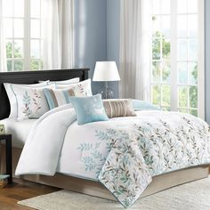Madison Park Amber 7-pc. Sateen Comforter Set King New Free Shipping #MadisonPark
