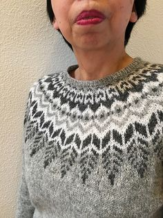 Ravelry: Project Gallery for Threipmuir pattern by Ysolda Teague Knitting Wool, Fair Isle Knitting, Sweater Knitting Patterns, Easy Knitting, Knit Patterns, Icelandic Sweaters, Nordic Sweater, Knit Art, Sweater Design
