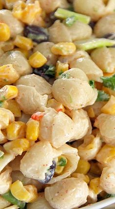 Spicy Southwest Pasta & Corn Salad with Chili Lime Dressing Recipe