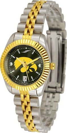 NCAA Iowa Hawkeyes Ladies' Executive AnoChrome Watch