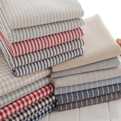 Cotton Linen/ Stripe Fabric/ Linen/ Linen Cotton/ by fabricmade, $6.80
