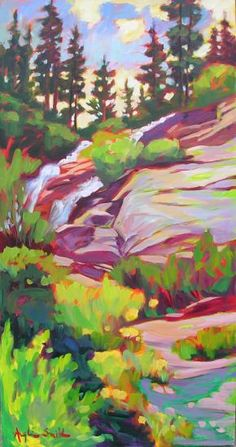Betty Anglin Smith - Twin Falls Impressionist Paintings, Impressionism, Oil Paintings, Landscape Art, Landscape Paintings, Perspective Art, Painting Inspiration, Inspiration Boards, Beautiful Paintings