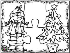 Puzzles navidad para colorear (5) Christmas Crafts For Kids, Christmas Activities, Christmas Holidays, Christmas Gifts, Colouring Pages, Coloring Books, Christmas Cards Drawing, Puzzles, Printable Paper