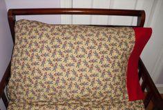 Sock Monkey Standard Pillowcase Red by SweetDreamsbyGranny on Etsy