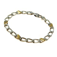 Tiffany & Co 18k Gold Sterling Link Bracelet