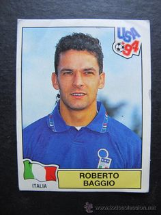 World Cup panini icons Roberto baggio, Italy 🇮🇹 USA, 1994 Roberto Baggio, Soccer Cards, Baseball Cards, America Album, Football Stickers, Different Sports, Aesthetic Movies, Fifa World Cup, Football Players