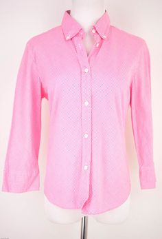 ICB Pink Checkered 3/4 Sleeve Blouse Size 10 by ICB | ClosetDash