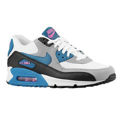 Nike Air Max 90 - Women's - Running - Shoes - White/Metallic Silver/Turbo Green/Metallic Silver