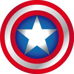 escudo del capitán américa | Logo de capitan america - Imagui Superhero Theme Party, Party Themes, Hulk, Captain America Shield, Hero Girl, Spiderman, Arts And Crafts, Marvel, Birthday