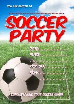 Free printable soccer birthday party invitations from free kids party invitations soccer party invitation filmwisefo