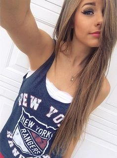 love the long hair but girl not so much makeup! just stop bleh