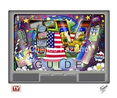 TV Guide 50th Anniversary - 3D PopArt by Charles Fazzino, public art commission.