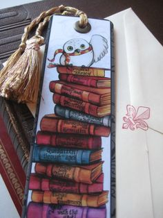 This book mark is so cute! I'm pretty sure that's Hedwig! :D