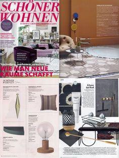 Schöner Wohnen Magazin aytms globe vase featured in modern wohnen casa jan 2018 edition