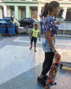 A Cuban girl dances on her borrowed longboard on Prado. #havana #prado #longboarding #dance #community #skateboarders #skateboardsforhope #skatelife #girlshred #girlskate #cuba