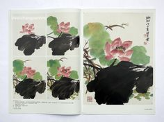 Chinese Painting Book Learn to Paint Lotus Canna Flower Brush Ink Asian Art   eBay