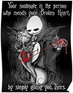 Broken Heart Poster Wow I understand Broken Heart Drawings, Broken Heart Art, Broken Heart Tattoo, Shattered Heart, Nightmare Before Christmas Quotes, Rambo 3, Dark Love Quotes, Jack The Pumpkin King, Arte Obscura