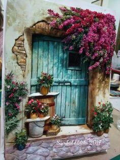 Best ideas for exterior entrance doors paint colors Old Doors, Belle Photo, Painting Inspiration, Painting & Drawing, Painting Doors, Watercolor Paintings, Watercolour, Art Drawings, Illustration
