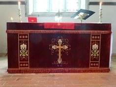 Red altar frontal (North Stoke Church, Oxon.)