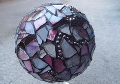 Custom Mosaic Ball Done By Order Only by PiecesofhomeMosaics Gonna try to give this a whirl !!