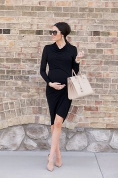 Dress: Helmut Lang (not maternity but totally works as one)   Bag: Saint Laurent (also here)...