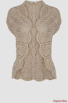 Receitas de Crochet: Colete de crochet maravilhoso