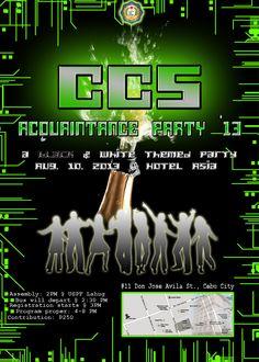Poster - CCS Acquaintance Party 2013