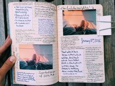 "living-the-ca-life: "" Before truly moving onto 2016 I had to journal the important moments of 2015 "" Journal Diary, Photo Journal, My Journal, Journal Notebook, Bullet Journal Inspiration, Journal Pages, Journal Ideas, Summer Journal, Smash Book"